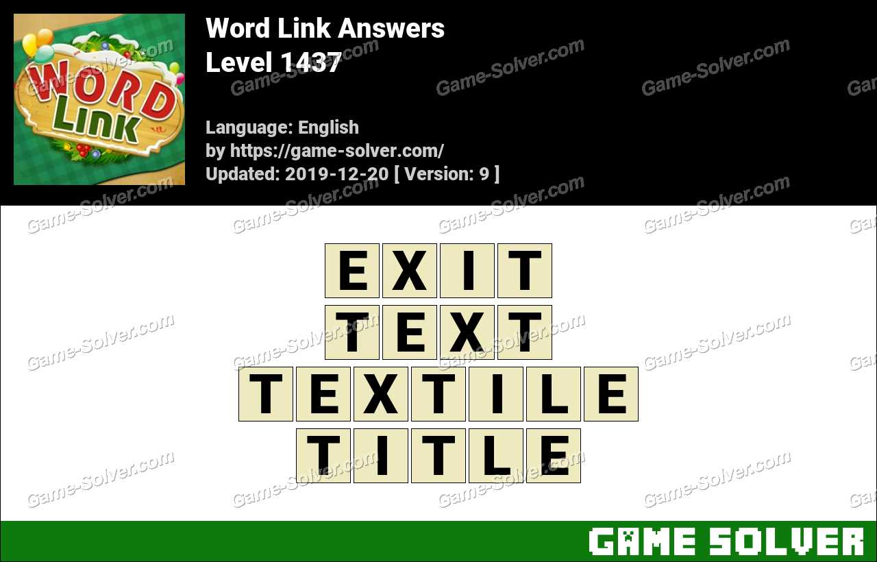 Word Link Level 1437 Answers