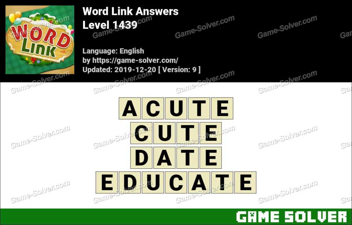 Word Link Level 1439 Answers