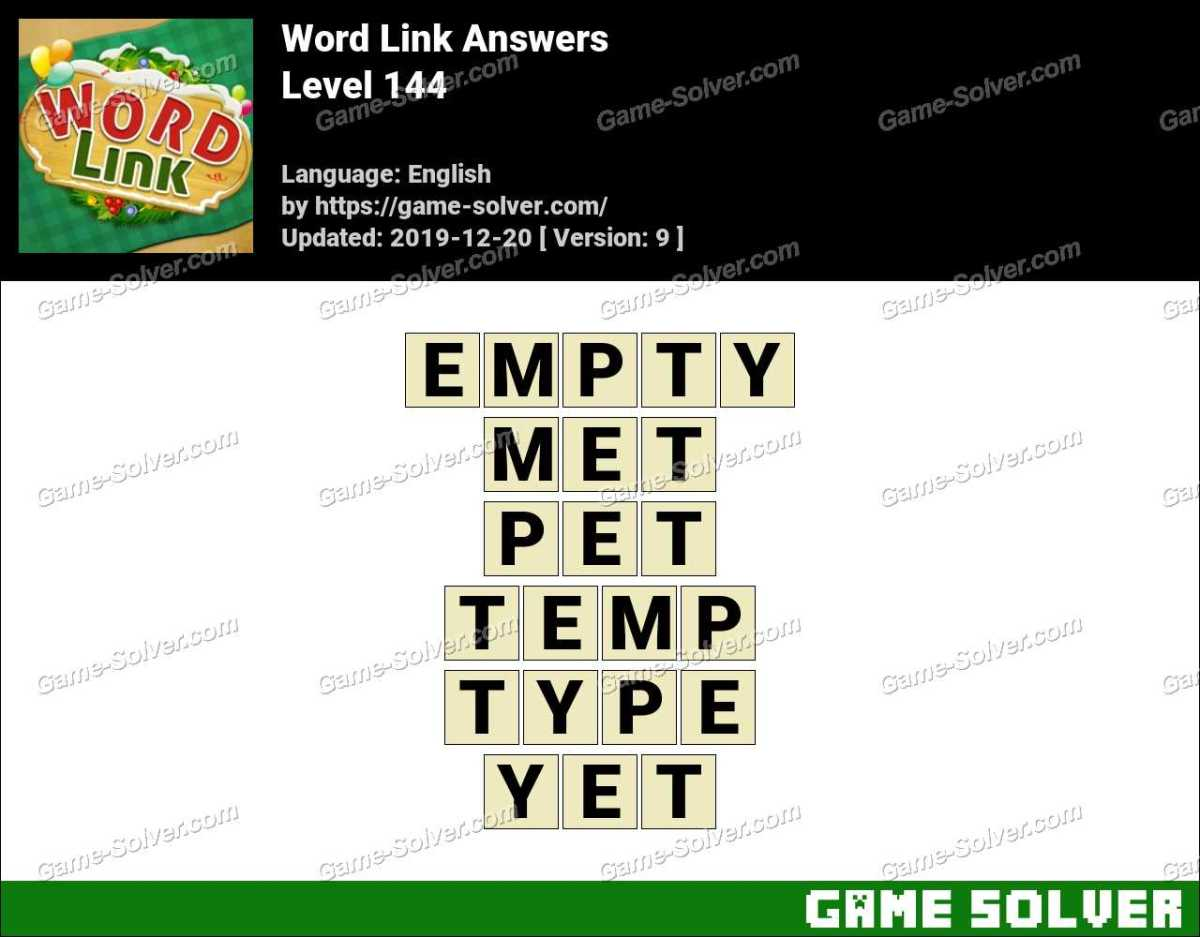 Word Link Level 144 Answers