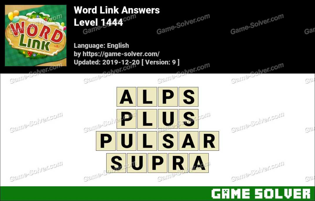 Word Link Level 1444 Answers