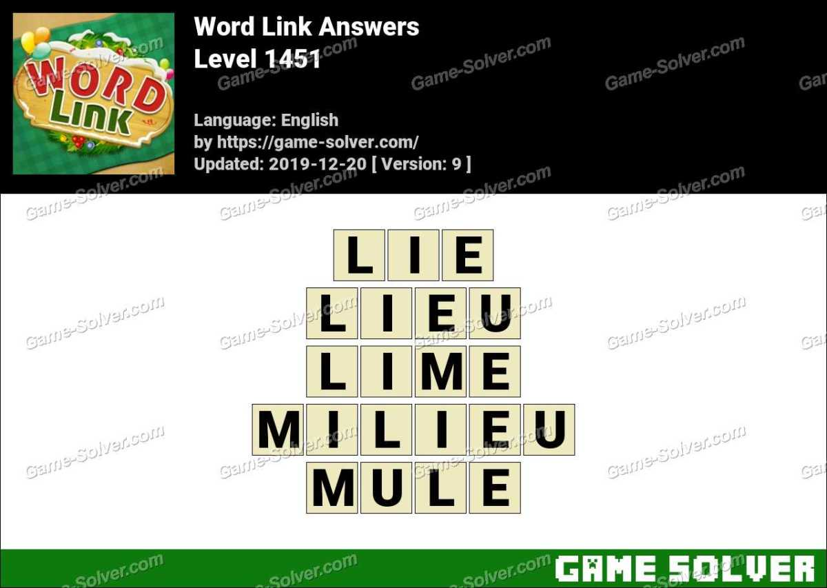 Word Link Level 1451 Answers