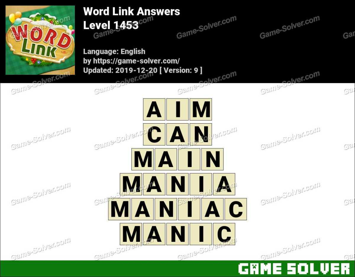 Word Link Level 1453 Answers