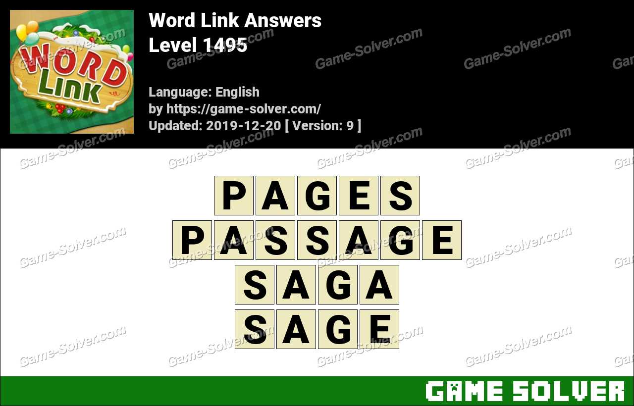 Word Link Level 1495 Answers