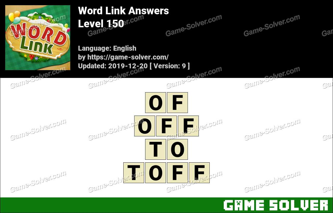 Word Link Level 150 Answers