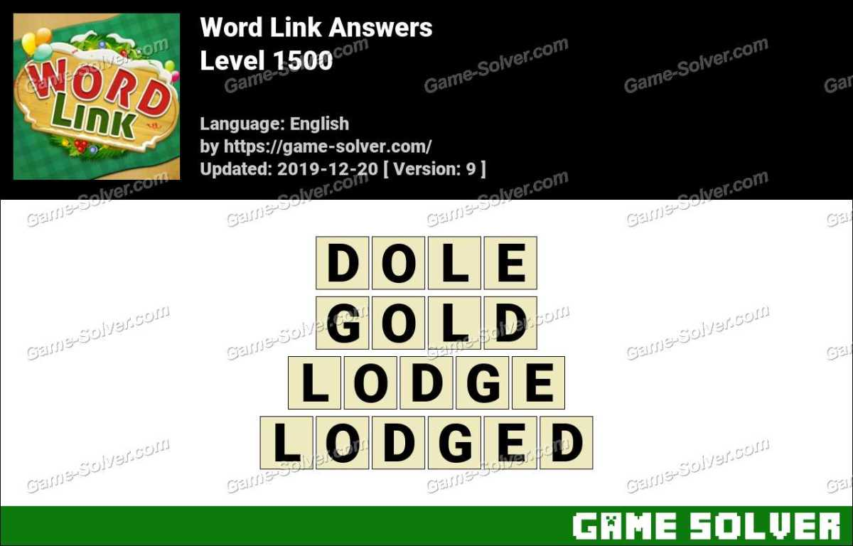 Word Link Level 1500 Answers