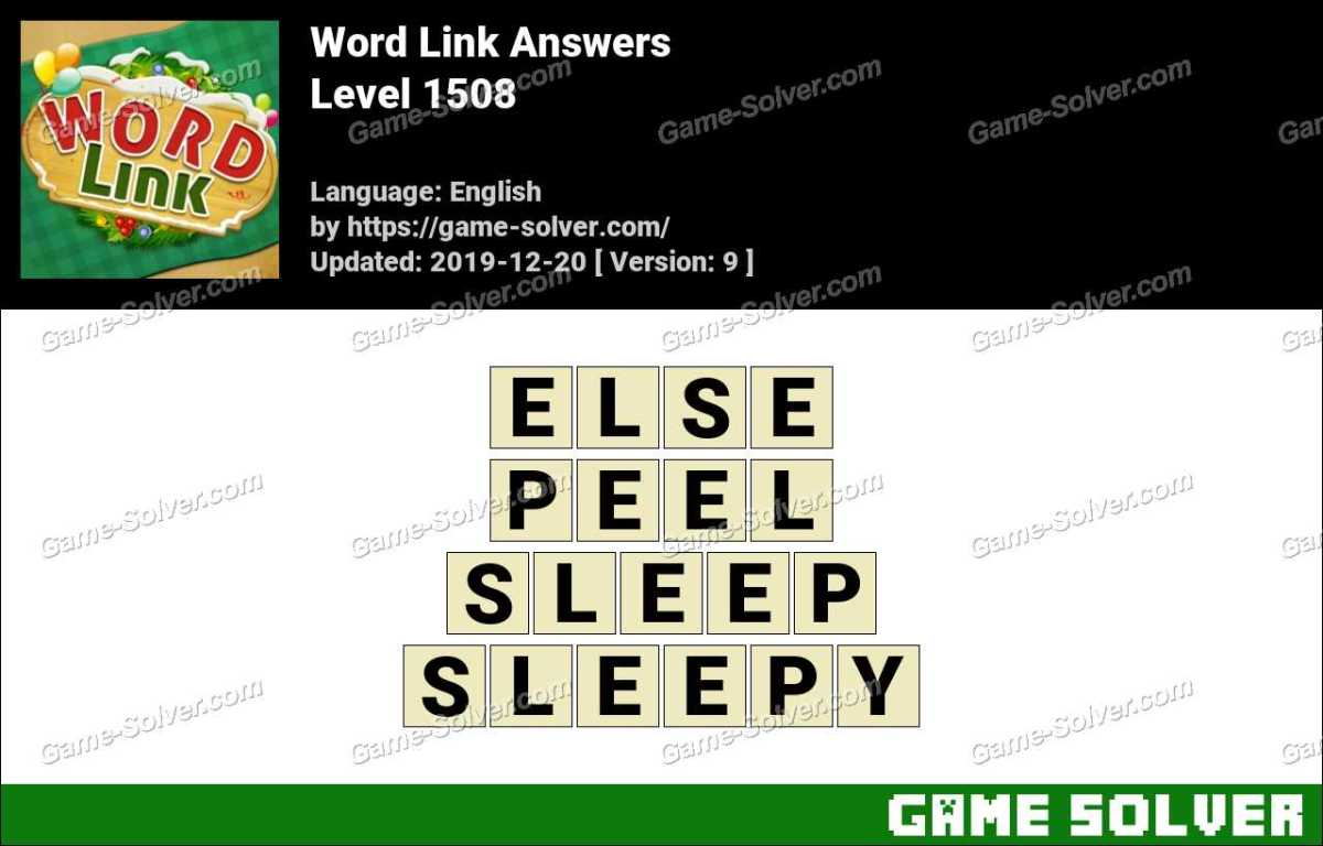 Word Link Level 1508 Answers