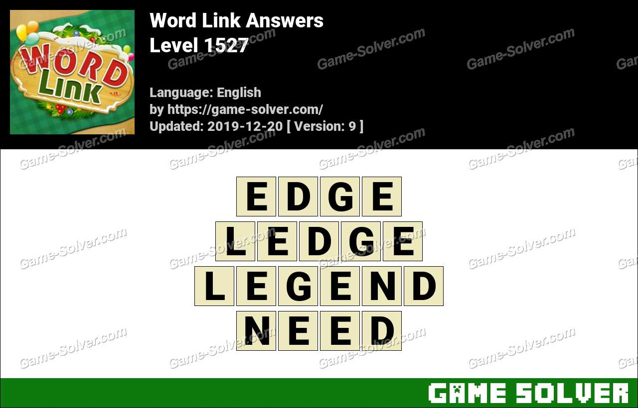 Word Link Level 1527 Answers