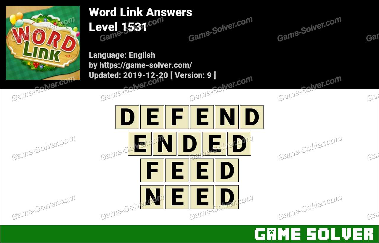 Word Link Level 1531 Answers
