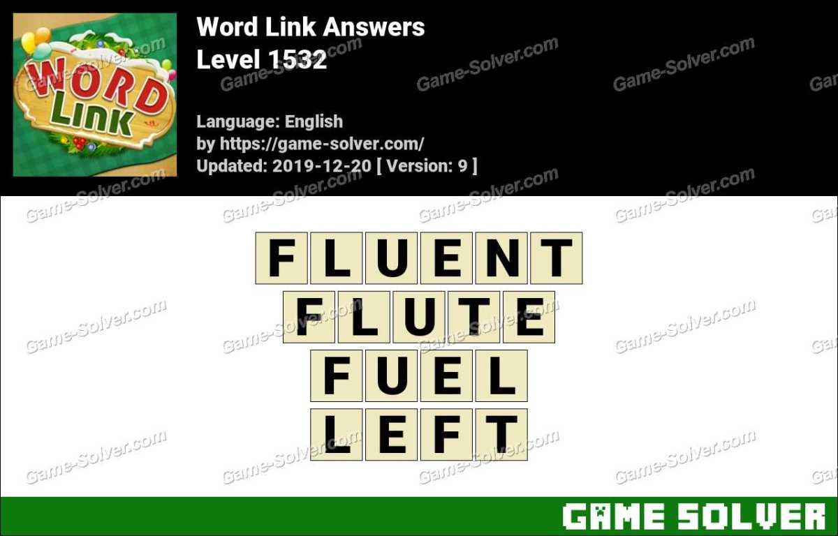 Word Link Level 1532 Answers