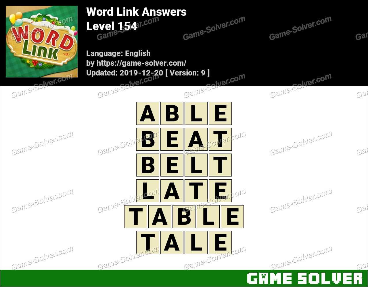 Word Link Level 154 Answers