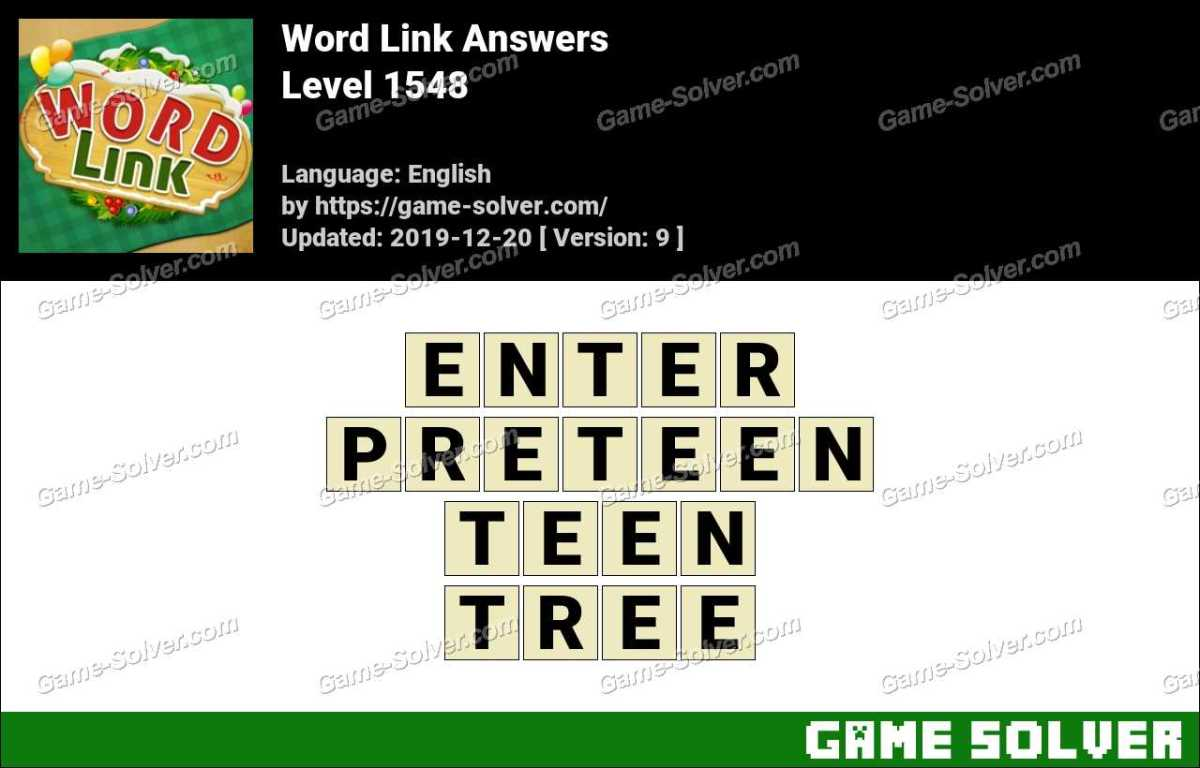 Word Link Level 1548 Answers