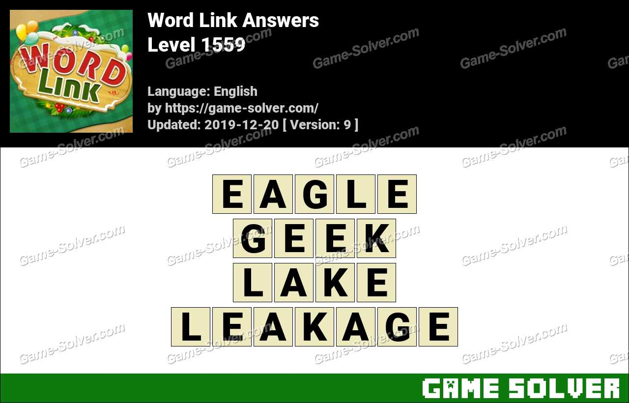 Word Link Level 1559 Answers