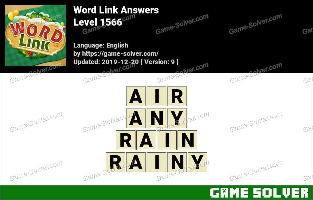 Word Link Level 1566 Answers