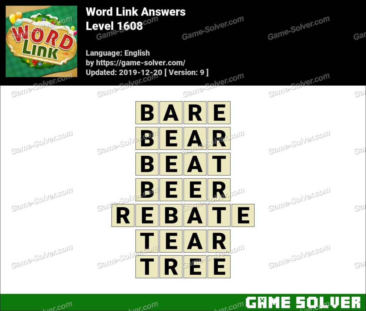 Word Link Level 1608 Answers