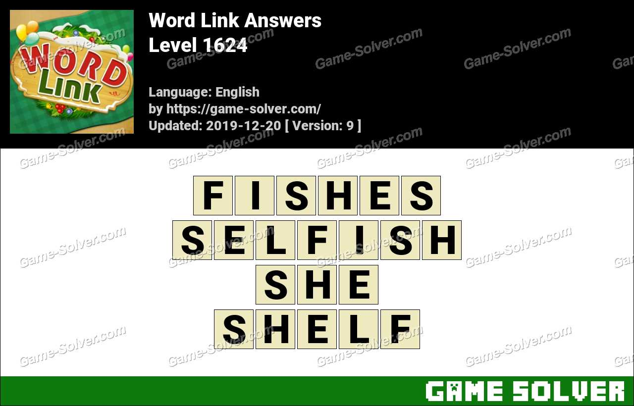 Word Link Level 1624 Answers