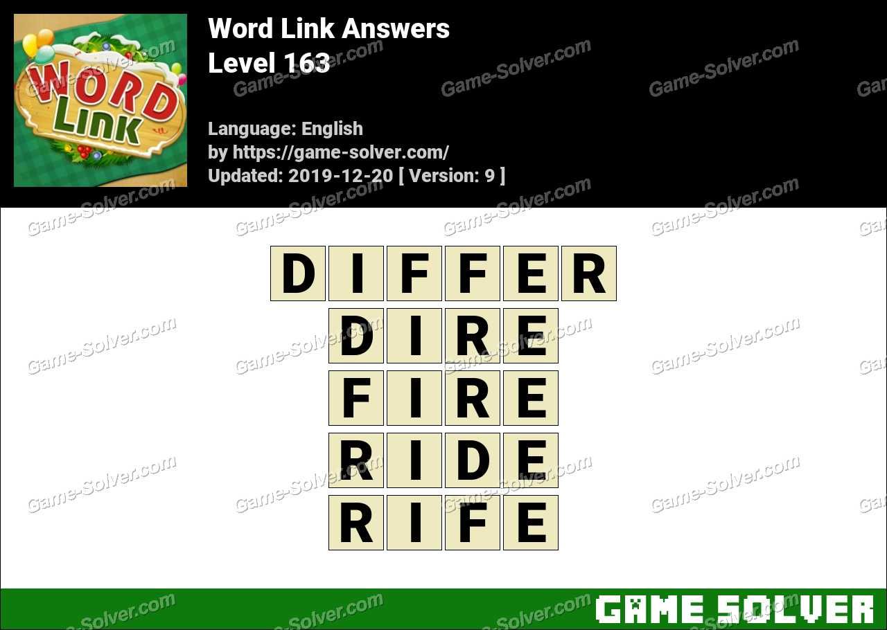 Word Link Level 163 Answers