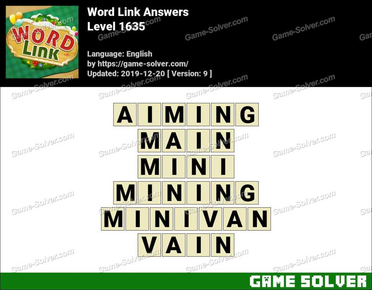 Word Link Level 1635 Answers
