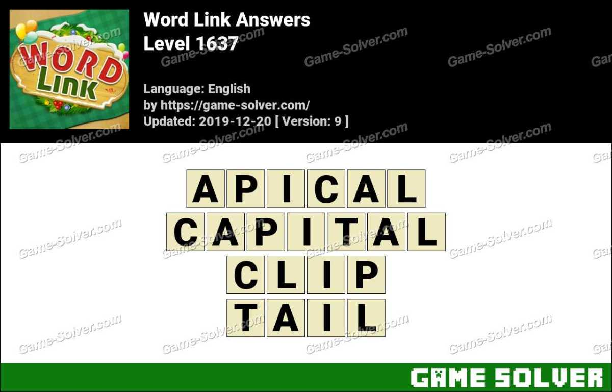 Word Link Level 1637 Answers