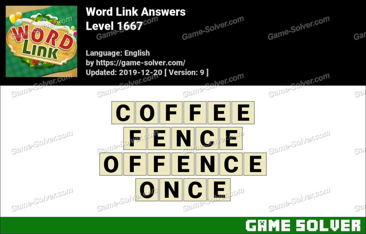 Word Link Level 1667 Answers