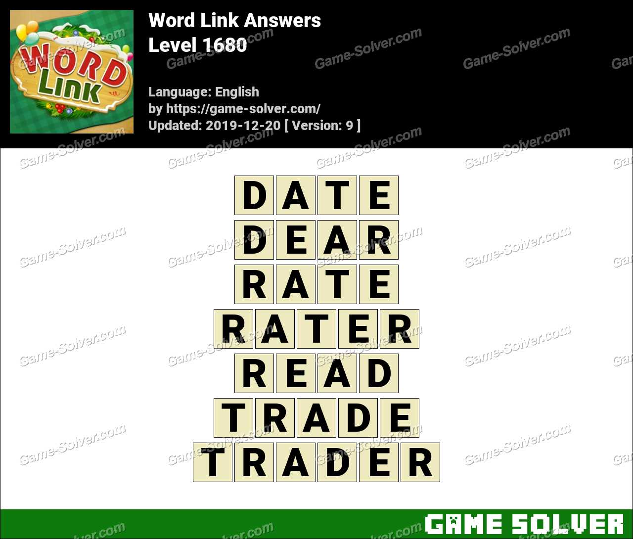 Word Link Level 1680 Answers