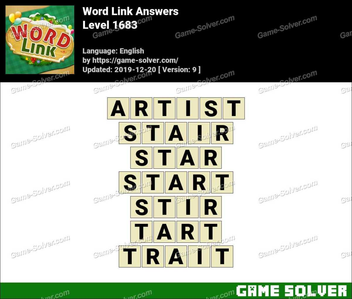 Word Link Level 1683 Answers