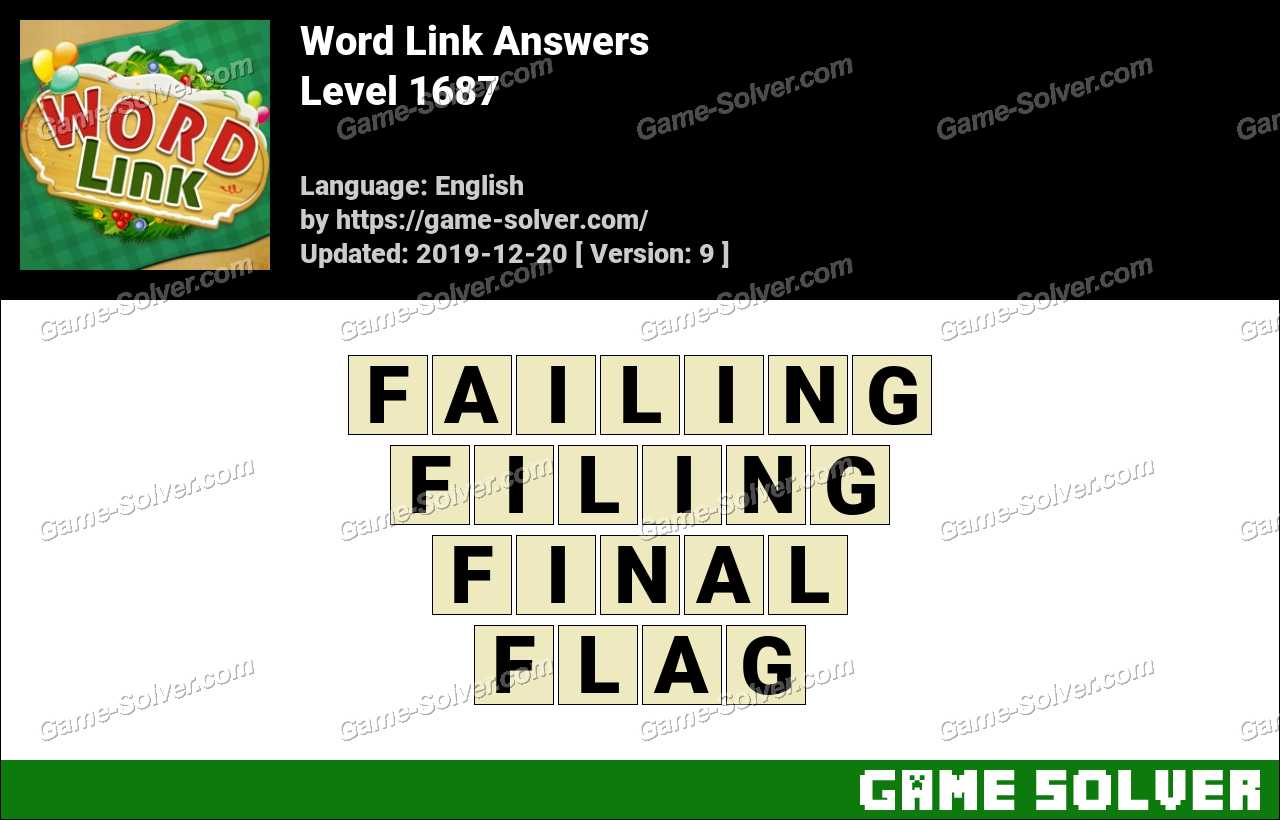 Word Link Level 1687 Answers