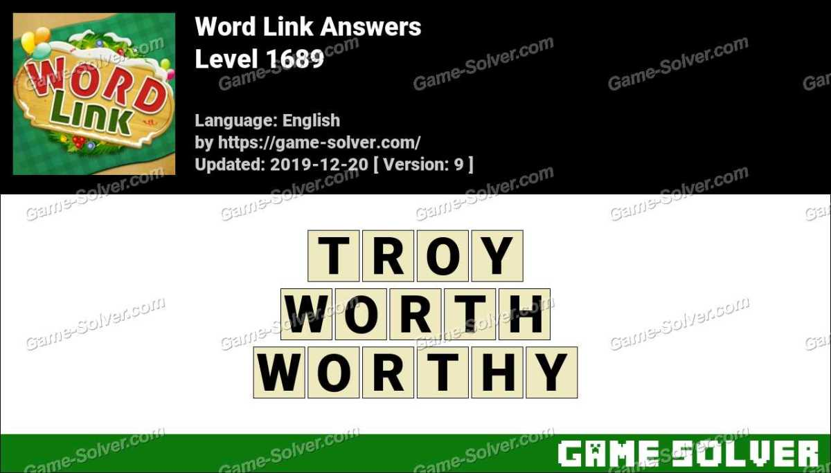 Word Link Level 1689 Answers