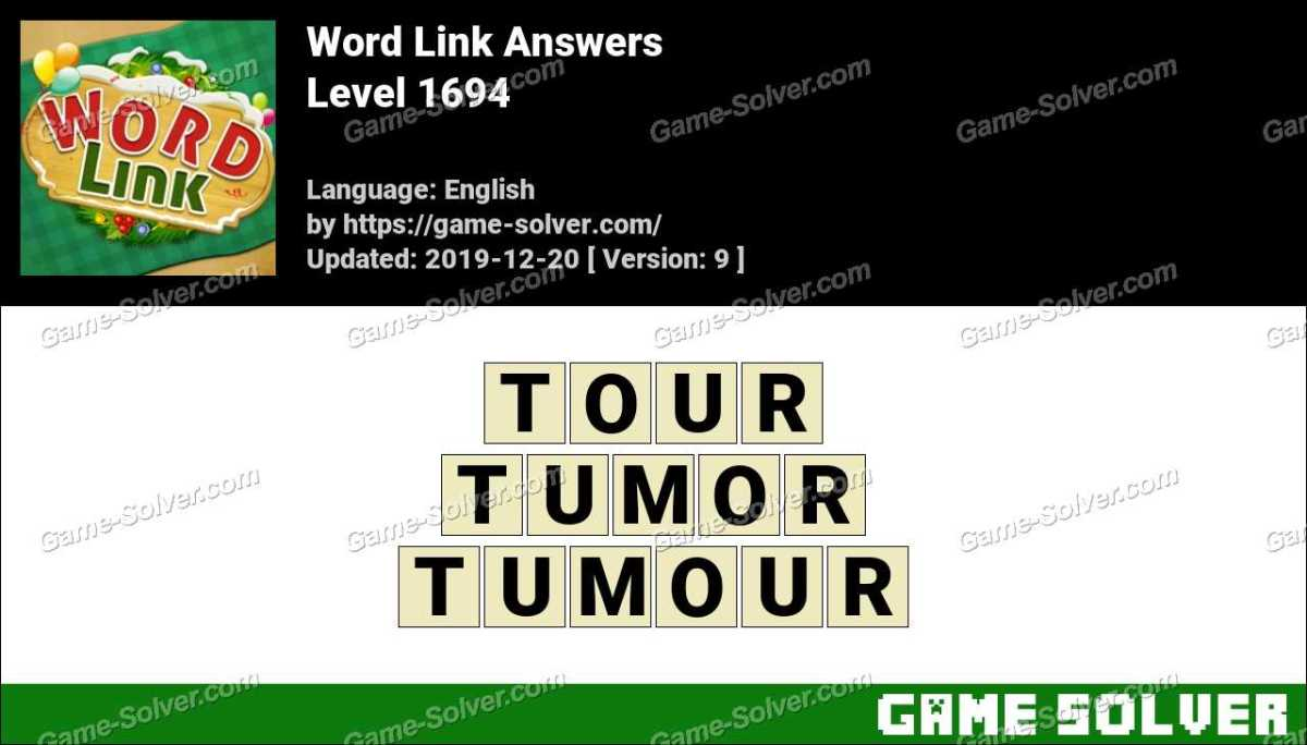 Word Link Level 1694 Answers