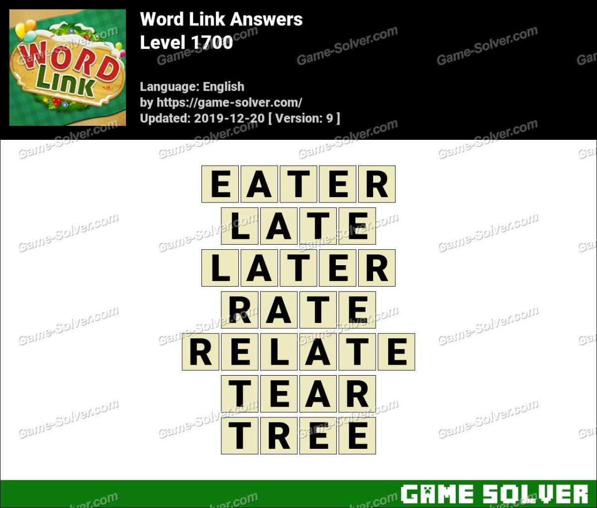 Word Link Level 1700 Answers