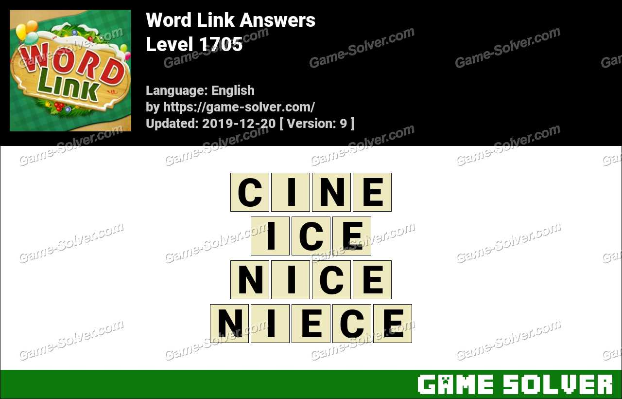 Word Link Level 1705 Answers