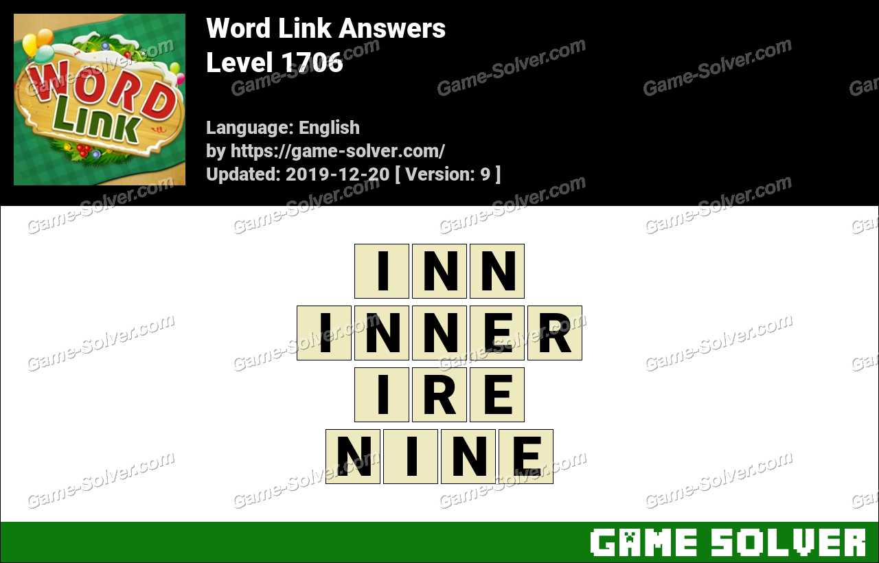 Word Link Level 1706 Answers