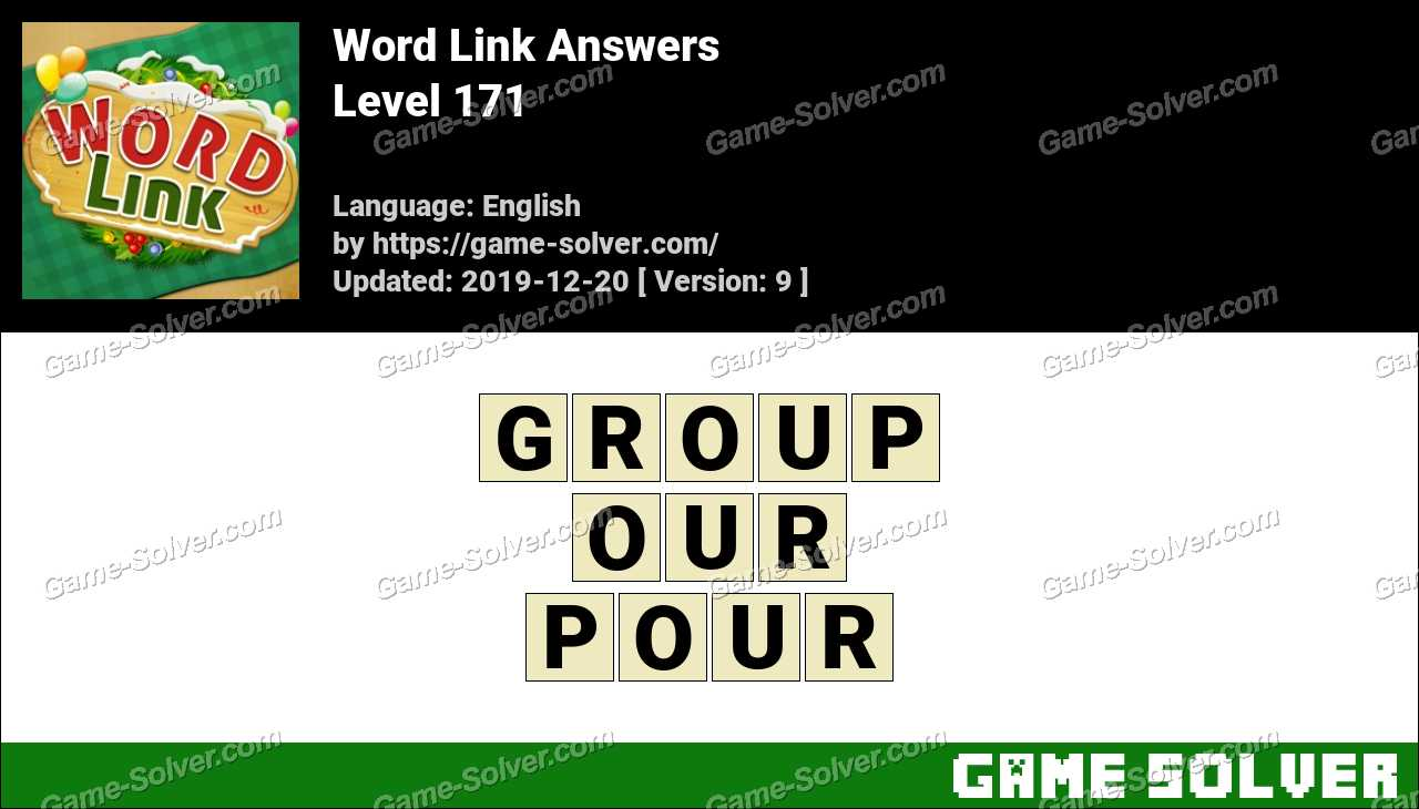 Word Link Level 171 Answers