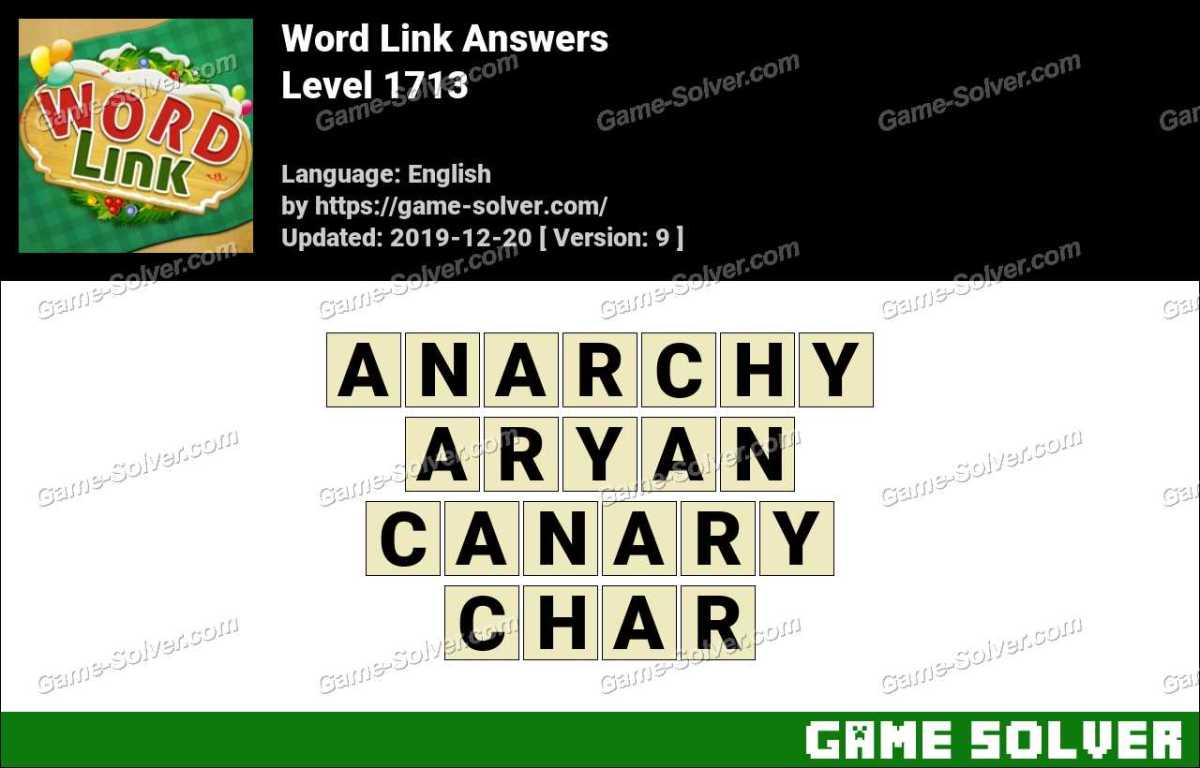 Word Link Level 1713 Answers