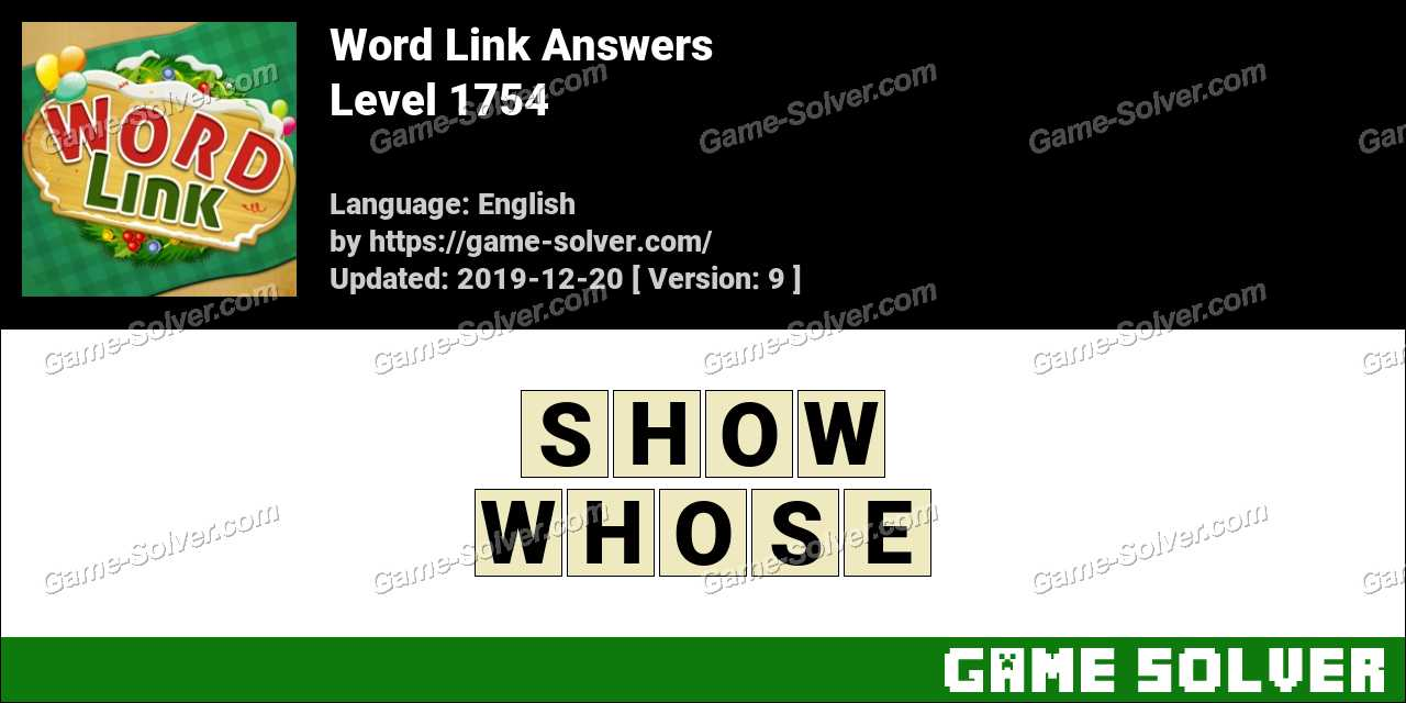 Word Link Level 1754 Answers