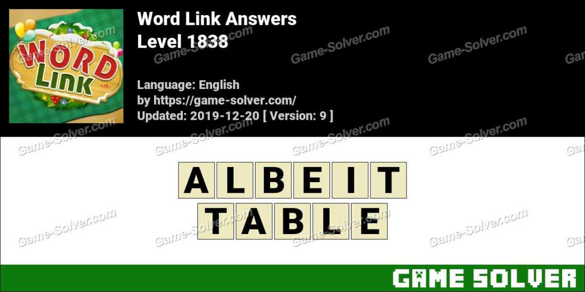 Word Link Level 1838 Answers