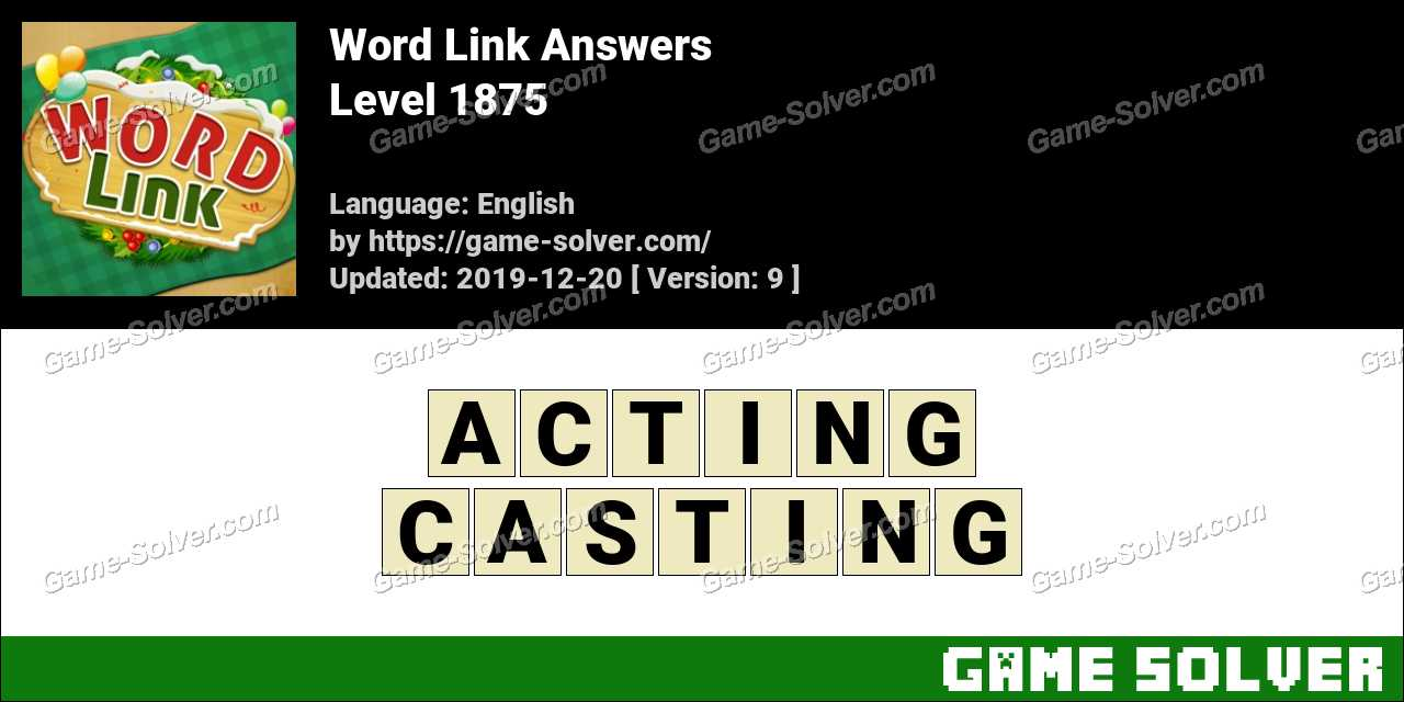 Word Link Level 1875 Answers