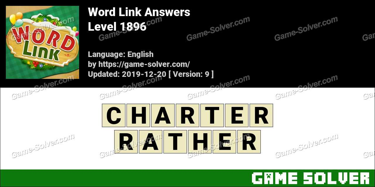 Word Link Level 1896 Answers