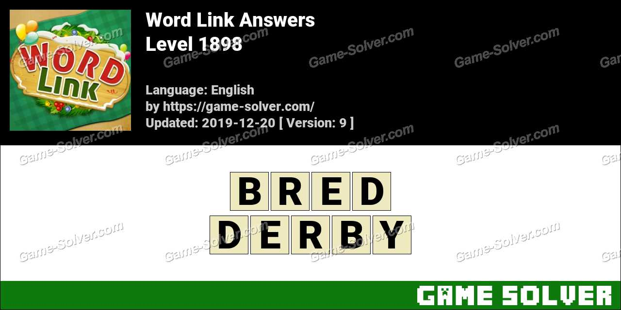 Word Link Level 1898 Answers