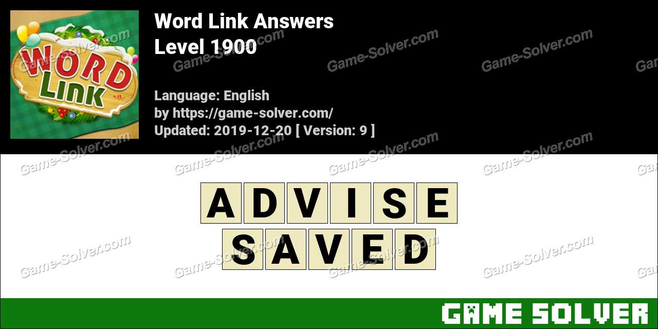 Word Link Level 1900 Answers
