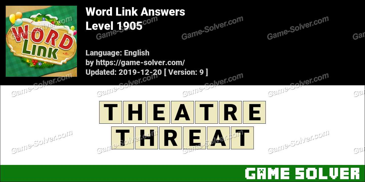 Word Link Level 1905 Answers