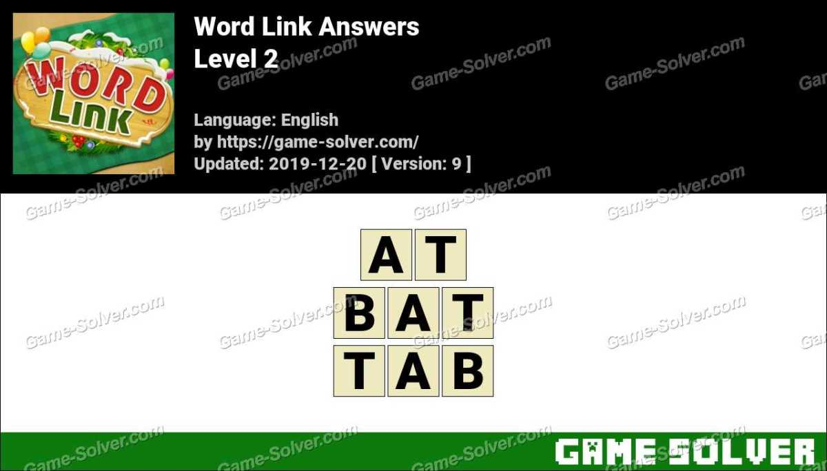 Word Link Level 2 Answers