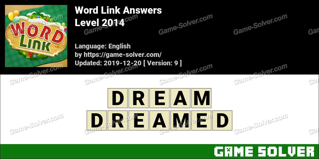 Word Link Level 2014 Answers