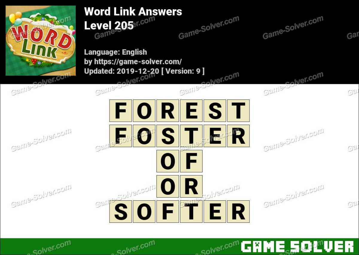 Word Link Level 205 Answers