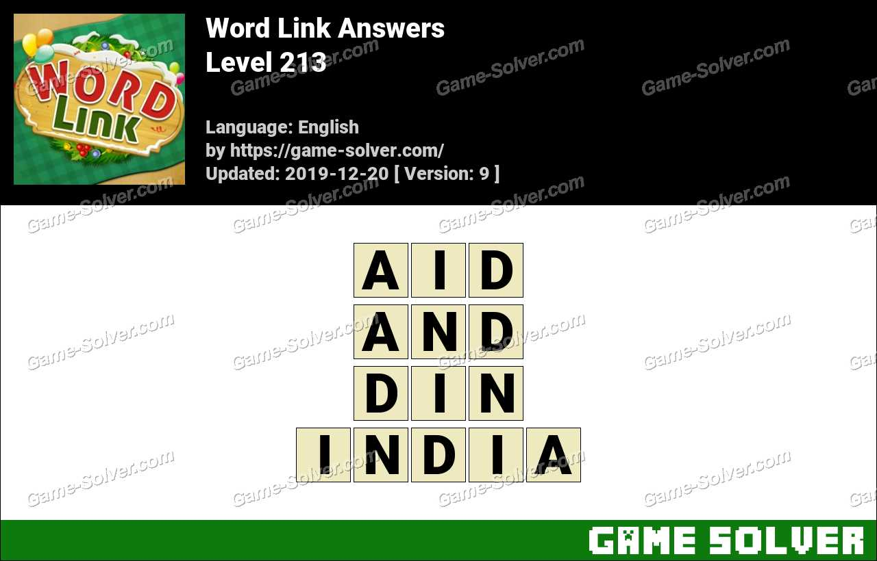 Word Link Level 213 Answers