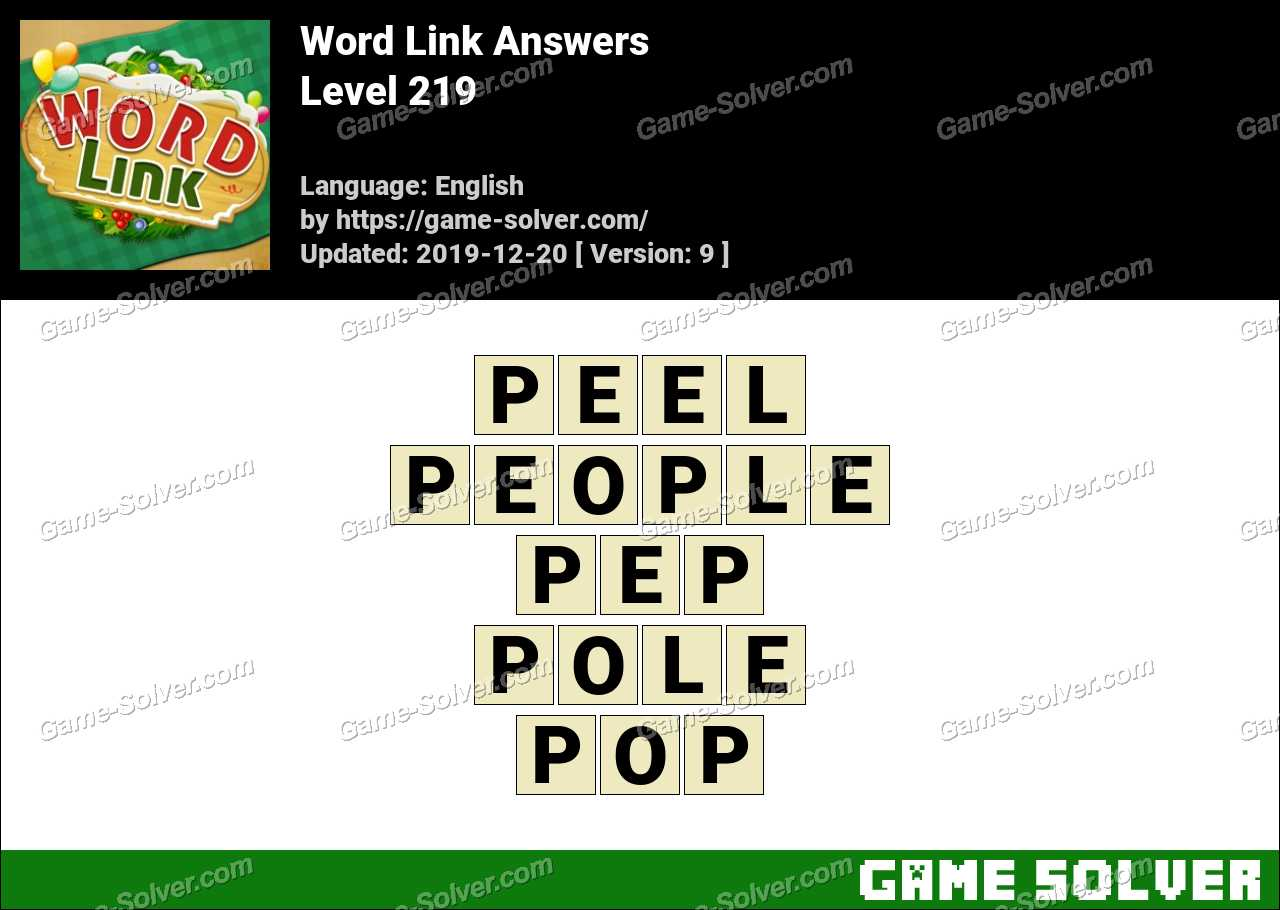 Word Link Level 219 Answers