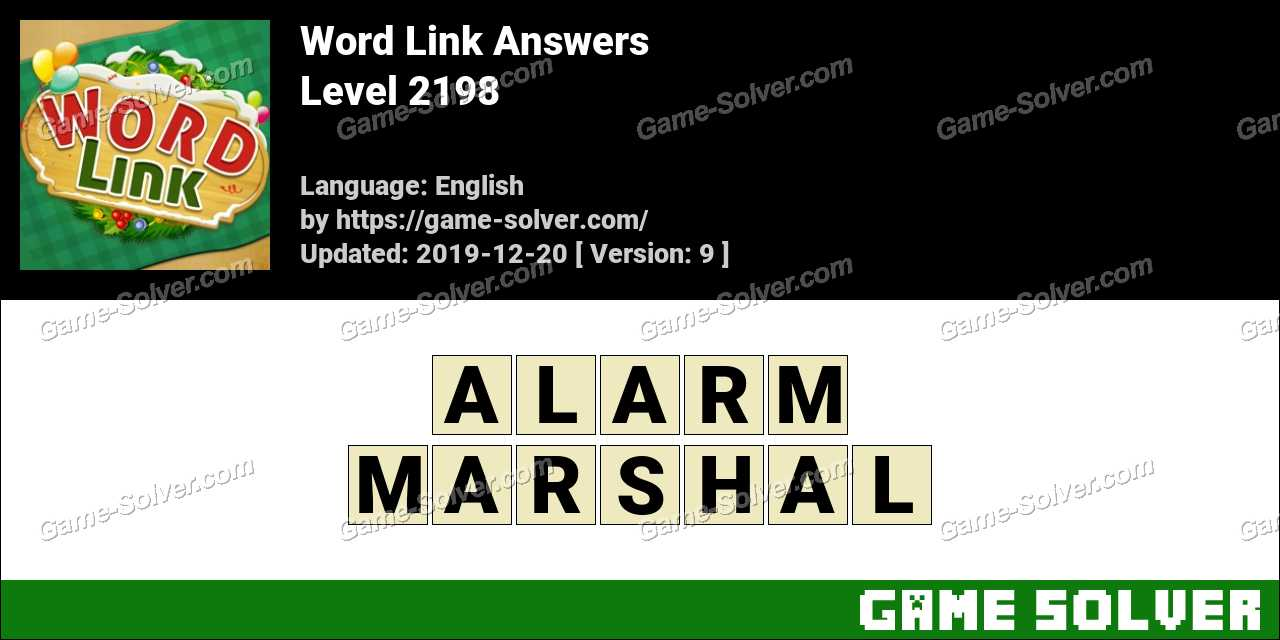 Word Link Level 2198 Answers