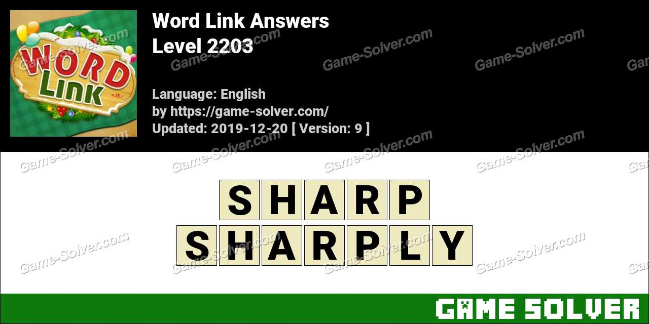 Word Link Level 2203 Answers