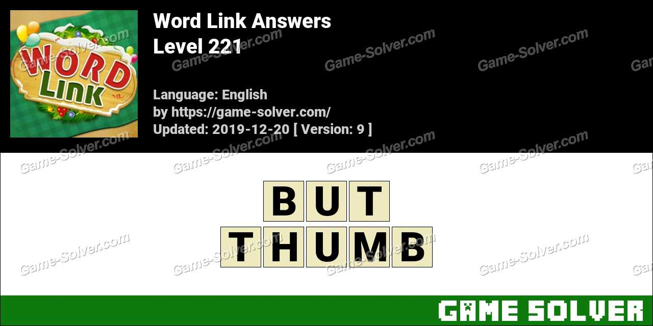 Word Link Level 221 Answers
