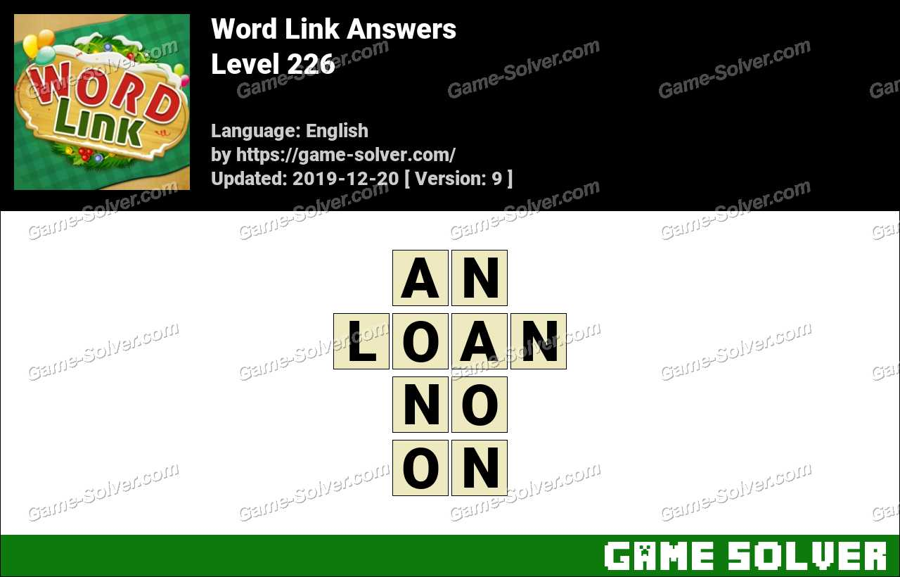 Word Link Level 226 Answers