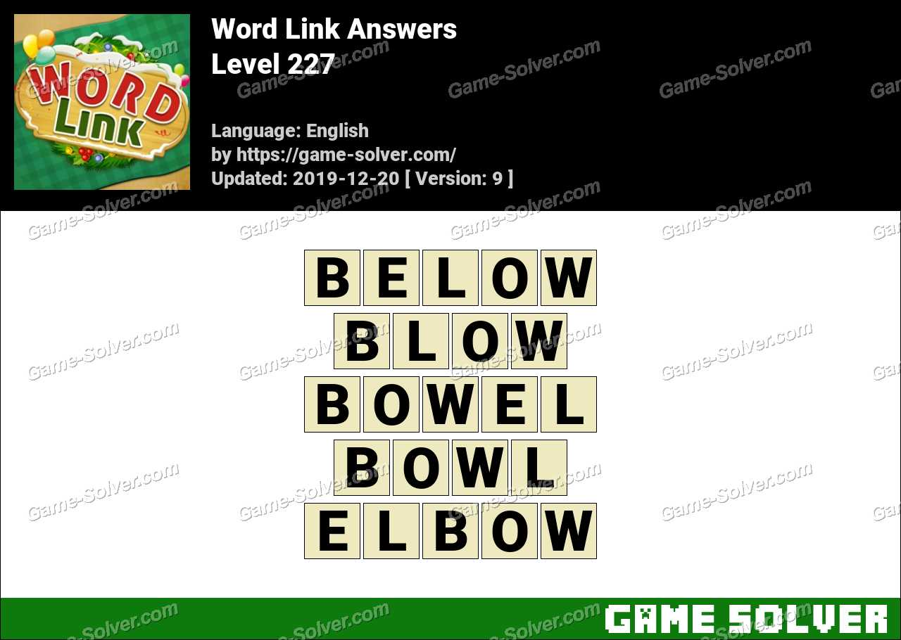 Word Link Level 227 Answers